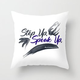 Step Up Speak Up United Unity Kneel Kneeling Throw Pillow