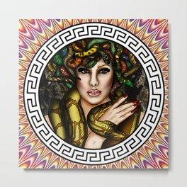 Medusa Warrior  Metal Print