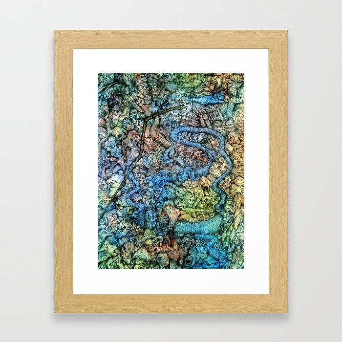 Autumn in Hell Framed Art Print