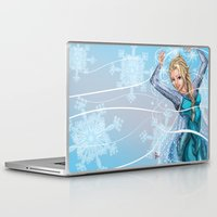 frozen elsa Laptop & iPad Skins featuring Elsa by Brett Parkey