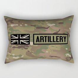 British Flag: Artillery (Camo) Rectangular Pillow