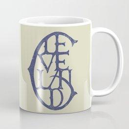 Vintage Cleveland Typography (Light) Coffee Mug