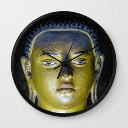 Buddha statue inside Maha Raja Viharaya or the Temple of the Great King (Cave No.2) Wall Clock