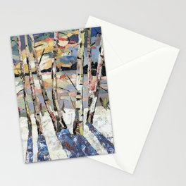 Birches in witnter Stationery Cards
