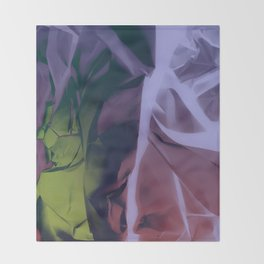 Deep Purple and Green Abstract Throw Blanket