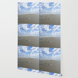 Cloudy seascape panorama Wallpaper