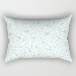 Leaves in Ocean Rectangular Pillow
