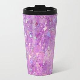 Sparkly Pinky Purple Aura Crystals Travel Mug