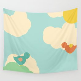 Birds in the Sky Wall Tapestry