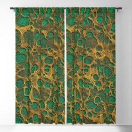 Dark Spring Green Gold Marble Blackout Curtain