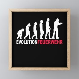 Evolution Fire Brigade Framed Mini Art Print