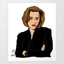 Dana Scully- Fan Art Art Print