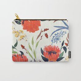 floral pattern hand draw watercolor Carry-All Pouch