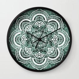 Mandala Subtle Green Colorburst Wall Clock