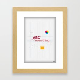 The ABC's of everything Framed Art Print
