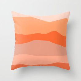 Nearby Hills Minimalist Abstract in Apricot Throw Pillow