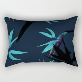 Fall print in navy and bright blue (also available in forest green and mustard) Rectangular Pillow