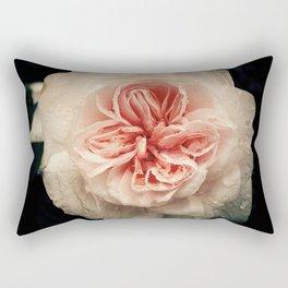 WET PINK ROSE BLOSSOM Rectangular Pillow