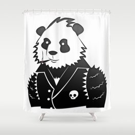 Punk Panda Shower Curtain