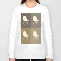 eames Long Sleeve T-shirts featuring Eames x 4 #4 by bittersweat