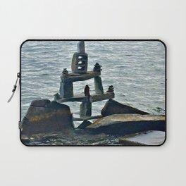 Rock Pile Lake Laptop Sleeve