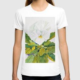 White Pansy T-shirt