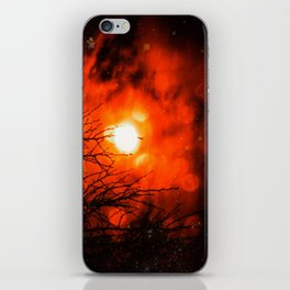 Burning Moon iPhone Skin