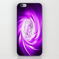 erotic iPhone & iPod Skins featuring Space and time 8  Erotic by Walter Zettl