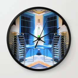 Waiting To Open Wall Clock