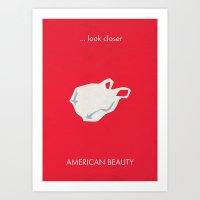 American Beauty Minimalist Poster Art Print