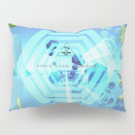 SONIC CYAN HEXAGON Pillow Sham