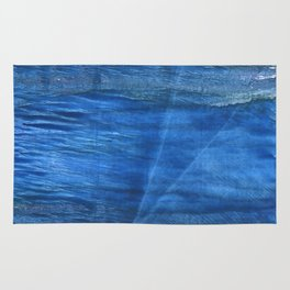 Lapis lazuli abstract watercolor Rug