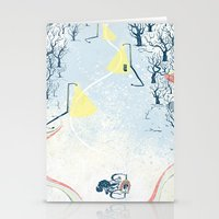 cycling Stationery Cards featuring Winter Cycling by Dushan Milic