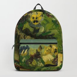 "Vincent van Gogh ""Basket of Pansies"" Backpack"