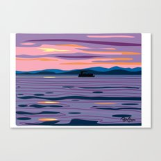 Party Boat Canvas Print