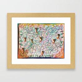 Heated Heart Swirls Framed Art Print