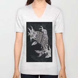 Ornate Mandala Style Koi Unisex V-Neck