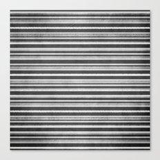 Chalkboard Stripes Canvas Print