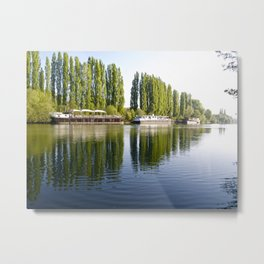 River Oise at Auvers. Metal Print