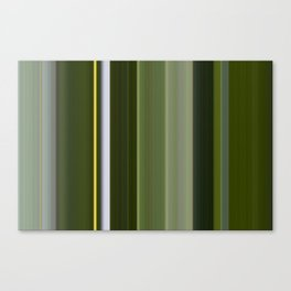 Stripes in Shades of Green Canvas Print