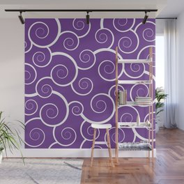 Purple Spiral Waves Wall Mural