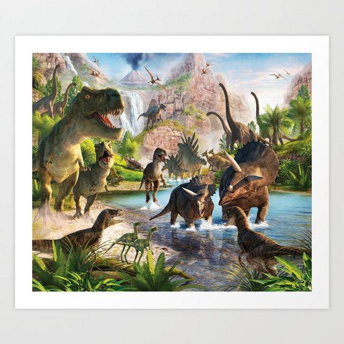Jurassic dinosaur Kunstdrucke