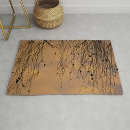 sunny branches and clouds Rug