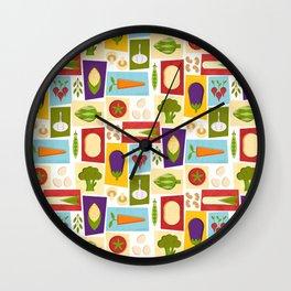 Farm to Table_pattern Wall Clock