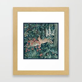 William Morris Forest Rabbits and Foxglove Framed Art Print