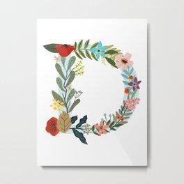 Monogram letter D Metal Print