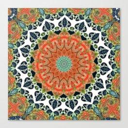 Disturbed Mandalic Patchwork Mandala Canvas Print