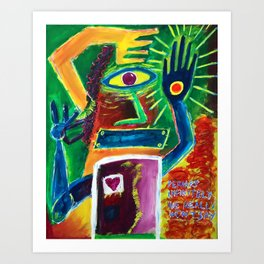 """Infinitely Wrong I Bet"" Surrealist Expressionism Artwork Art Print"