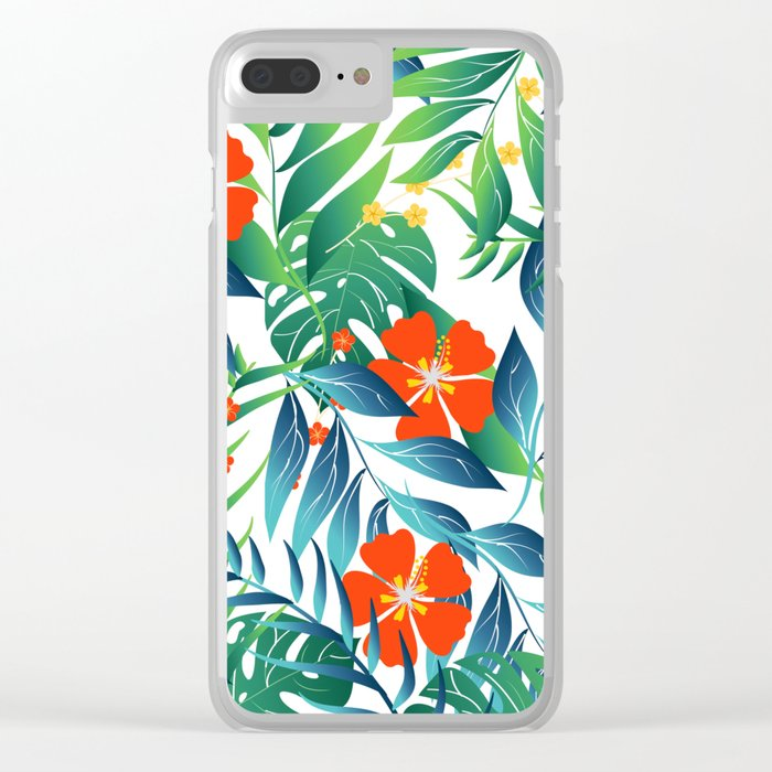 TROPICAL PARADISE 4 Clear iPhone Case
