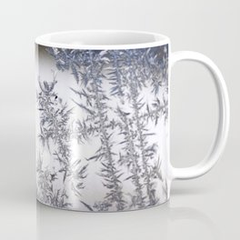 Frost Covered Glass Coffee Mug